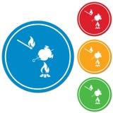 Ícone grelhado da galinha Fotos de Stock
