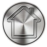 Ícone Home do botão foto de stock royalty free