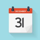 Ícone horizontalmente diário do calendário Emblema da ilustração do vetor Foto de Stock Royalty Free