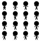 Ícone humano 1 do pictograma da postura Imagens de Stock