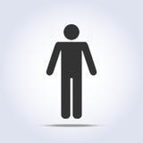 Ícone humano ereto Ilustração do vetor Imagem de Stock Royalty Free