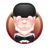 Ícone idoso do avatar do cavalheiro Imagem de Stock Royalty Free