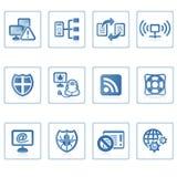 Ícone II do Internet e da segurança ilustração royalty free