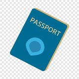 Ícone imigrante do passaporte, estilo liso ilustração do vetor