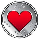 Ícone industrial do coração ou do amor Foto de Stock