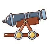 Ícone inimigo do canhão, estilo dos desenhos animados ilustração do vetor
