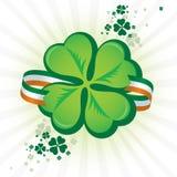 Ícone irlandês do Shamrock Foto de Stock