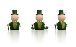 Ícone irlandês para o dia do St Patricks - versão branca Foto de Stock Royalty Free