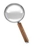 Ícone isolado 3d do magnifier da mão Imagem de Stock