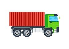 Ícone isolado caminhão do vetor do frete ilustração do vetor