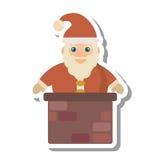 Ícone isolado caráter do Natal de Papai Noel ilustração do vetor