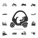 Ícone isolado carrinho de golfe Grupo detalhado de ícones do transporte Projeto gráfico da qualidade superior Um dos ícones da co ilustração do vetor