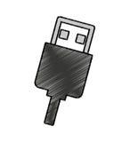 ícone isolado conector do usb Imagem de Stock