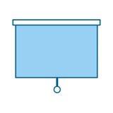 Ícone isolado das cortinas de janela ilustração do vetor