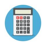 Ícone isolado dispositivo da matemática da calculadora Imagens de Stock