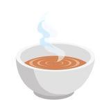 Ícone isolado do prato de sopa ilustração royalty free