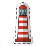 ícone isolado marítimo da casa clara ilustração do vetor