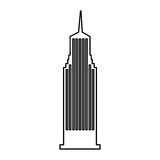 Ícone isolado New York de Cloudscraper Fotografia de Stock Royalty Free