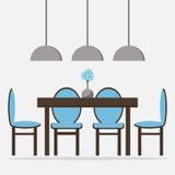 Ícone isolado sala de jantar Foto de Stock