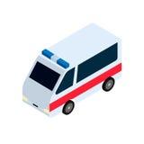 Ícone isométrico da ambulância Imagem de Stock Royalty Free
