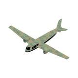 Ícone isométrico das forças armadas do avião Fotos de Stock