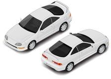 Ícone isométrico do carro desportivo do cupê do vetor Transporte para o infographics ilustração royalty free
