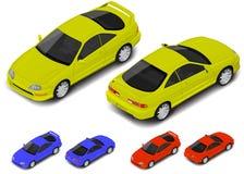 Ícone isométrico do carro desportivo do cupê do vetor Transporte para o infographics ou seu mundo isométrico Fotografia de Stock Royalty Free