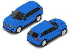 Ícone isométrico do carro do vetor Transporte para o infographics ilustração do vetor