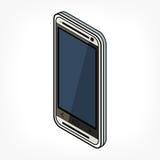 Ícone isométrico do telefone Imagem de Stock