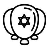 Ícone judaico dos ballons, estilo do esboço ilustração do vetor