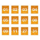 Ícone lançado plano do calendário Fotos de Stock Royalty Free