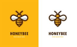 Ícone linear da abelha ilustração stock