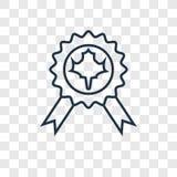 Ícone linear do vetor do conceito do emblema isolado no backgr transparente ilustração royalty free