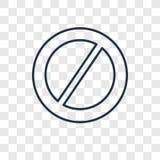 Ícone linear proibido do vetor do conceito isolado no backgr transparente ilustração stock