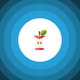 Ícone liso comido O elemento mordido do vetor pode ser usado para mordido, comido, conceito de projeto de Apple ilustração stock