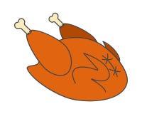 Ícone liso cozinhado do vetor de Turquia ilustração do vetor