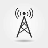 Ícone liso da antena no fundo cinzento Fotografia de Stock Royalty Free