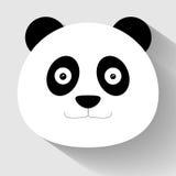 Ícone liso da cara da panda Imagem de Stock