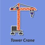 Ícone liso da cor do guindaste de torre Imagem de Stock