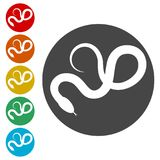 Ícone liso da serpente do réptil para os apps animais ilustração royalty free