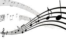 Ícone liso das notas, da música, da melodia ou do acordo da música para apps e Web site musicais ilustração royalty free