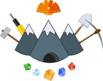 Ícone liso de mineração Foto de Stock