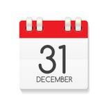 Ícone liso do calendário do 31 de dezembro Ilustração do vetor ilustração do vetor