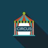 Ícone liso do circo com sombra longa Imagens de Stock