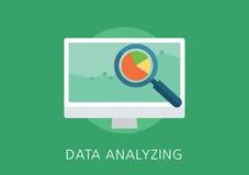 Ícone liso do conceito da analítica dos dados Fotografia de Stock