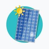 Ícone liso do painel solar Vetor ilustração do vetor