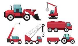 Ícone liso do projeto dos veículos da construção ilustração royalty free