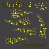 Ícone liso do vetor das notas, da música, da melodia ou do acordo da música para apps e Web site musicais ilustração stock