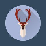 Ícone liso dos cervos Foto de Stock Royalty Free