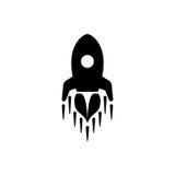 Ícone liso moderno de Rocket ilustração stock